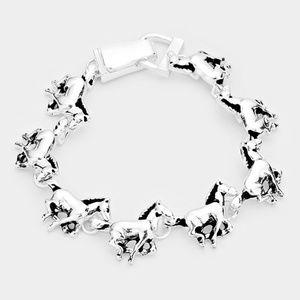 Metal Horse Link Magnetic Bracelet